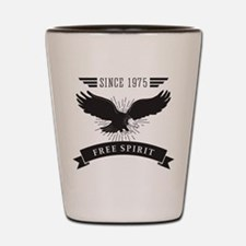 Birthday Born 1975 Free Spirit Shot Glass