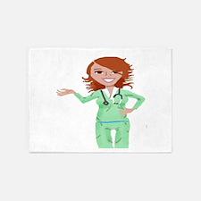 Nurse 5'x7'Area Rug