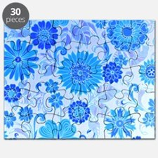 Blue Daisy Print Puzzle