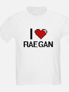 I Love Raegan Digital Retro Design T-Shirt