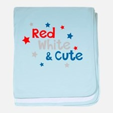 Red, White & Cute baby blanket