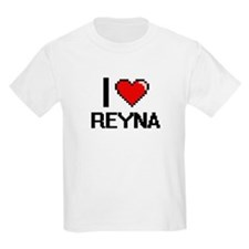 I Love Reyna Digital Retro Design T-Shirt