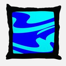 Turquoise Wild Wave Randy's Fave Throw Pillow
