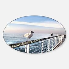 Hermosa Beach birds on a pier Decal