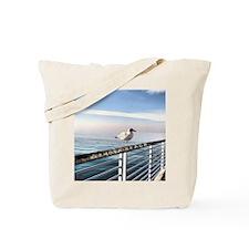 Hermosa Beach birds on a pier Tote Bag