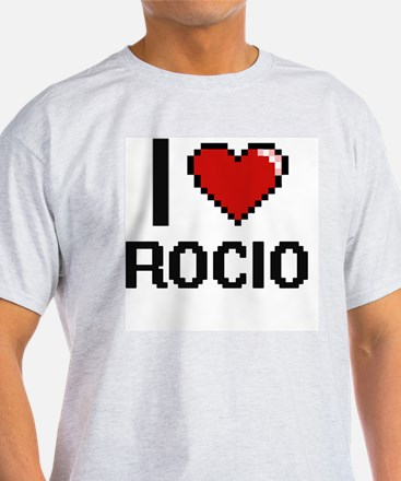 I Love Rocio Digital Retro Design T-Shirt