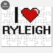 I Love Ryleigh Digital Retro Design Puzzle