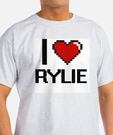 I Love Rylie Digital Retro Design T-Shirt