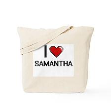 I Love Samantha Digital Retro Design Tote Bag