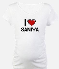 I Love Saniya Digital Retro Desi Shirt