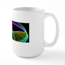 Chaotic Rainbow on Black Mugs