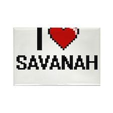 I Love Savanah Digital Retro Design Magnets