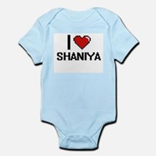 I Love Shaniya Digital Retro Design Body Suit