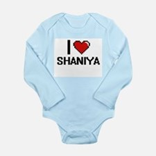 I Love Shaniya Digital Retro Design Body Suit