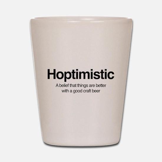 Hoptimistic Shot Glass