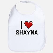 I Love Shayna Digital Retro Design Bib