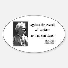 Mark Twain 22 Oval Decal