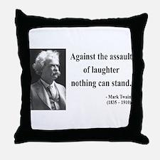 Mark Twain 22 Throw Pillow
