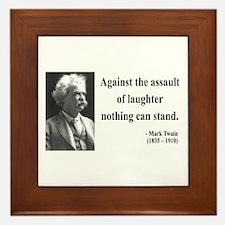 Mark Twain 22 Framed Tile