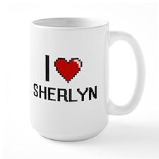 I Love Sherlyn Digital Retro Design Mugs