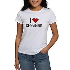 I Love Shyanne Digital Retro Design T-Shirt