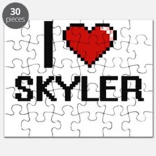 I Love Skyler Digital Retro Design Puzzle