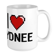 I Love Sydnee Digital Retro Design Mugs