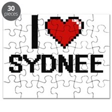 I Love Sydnee Digital Retro Design Puzzle