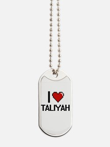 I Love Taliyah Digital Retro Design Dog Tags