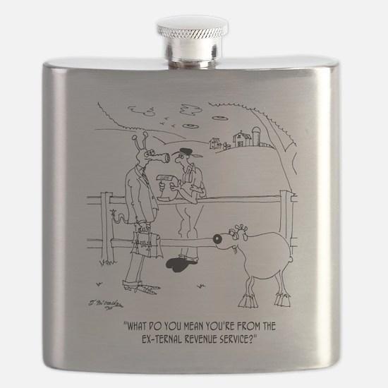 Goat Cartoon 9251 Flask
