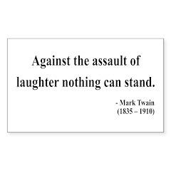 Mark Twain 22 Rectangle Decal