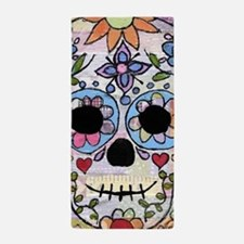 Mexican Flower Skull Beach Towel