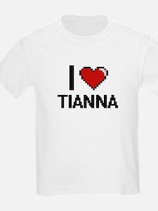 I Love Tianna Digital Retro Design T-Shirt