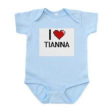 I Love Tianna Digital Retro Design Body Suit