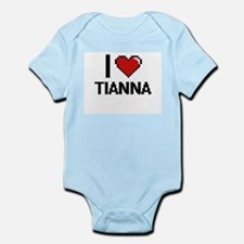 I Love Tianna Digital Retro Design Body Suit