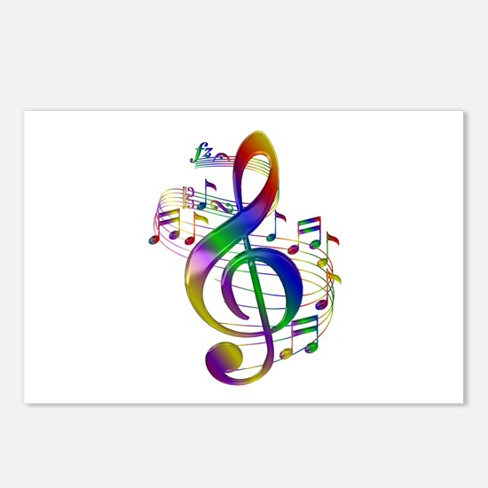 Colorful Treble Clef Postcards (Package of 8)