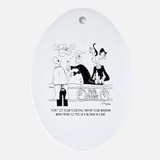 Dating Cartoon 9254  Oval Ornament