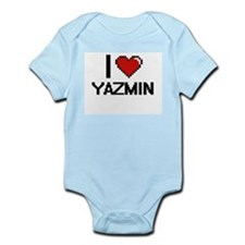 I Love Yazmin Digital Retro Design Body Suit