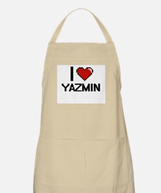 I Love Yazmin Digital Retro Design Apron