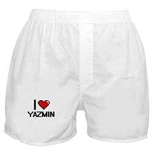 I Love Yazmin Digital Retro Design Boxer Shorts