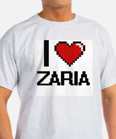 I Love Zaria Digital Retro Design T-Shirt
