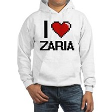 I Love Zaria Digital Retro Desig Hoodie Sweatshirt