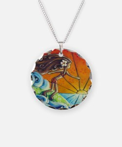 Sunrise Surfer Girl Necklace