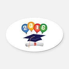 2016 Grad Oval Car Magnet