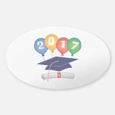 2017 Grad Sticker (Oval 10 pk)