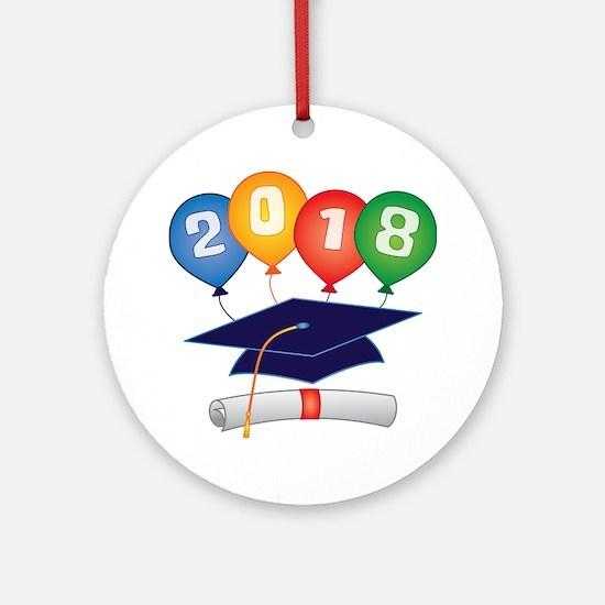 2018 Grad Ornament (Round)