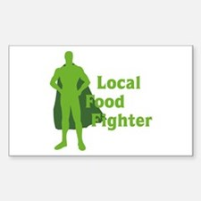 Local Food Fighter Rectangle Decal