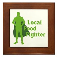 Local Food Fighter Framed Tile