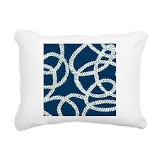 Nautical Rope Blue Rectangular Canvas Pillow