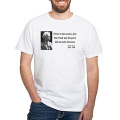 Mark Twain 23 White T-Shirt